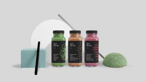 Doodled Juice Branding - Raw Blend Offers Convenient Packaging for its Nutritious Smoothies