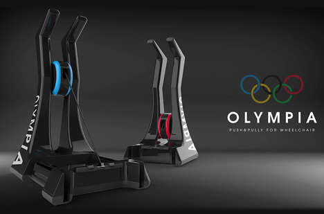 Paraplegic Fitness Systems - The 'OLYMPIA' Upper Body Workout System is for Wheelchair Athletes