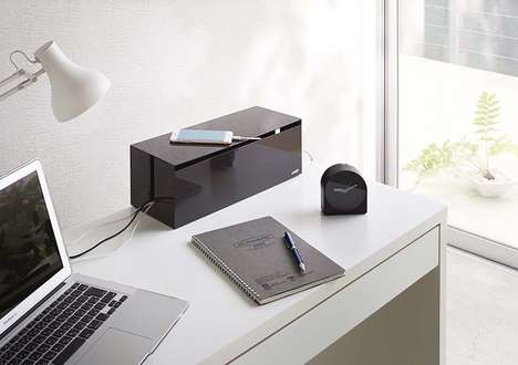 Discreet Organizational Cable Boxes - The YAMAZAKI Web Cable Boxes Hide Cables in Plain Sight