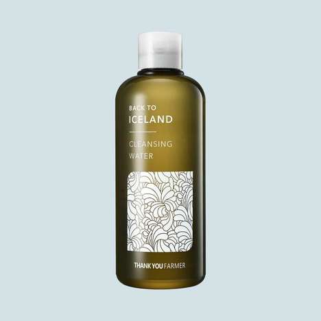 Moss-Based Facial Cleansers - Thank you Farmer's Cleansing Water Features an Icelandic Moss Base