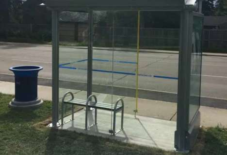 Solar Advertising Bus Shelters - Many Edmonton Bus Shelters are Going Off the Grid