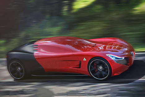 Honeycomb Windshield Supercars - The Alfa Romeo C18 Car Concept is Aerodynamically Stunning
