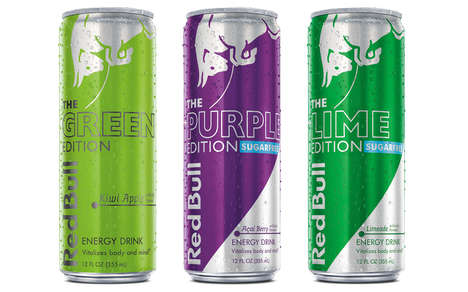 Exotic Energy Drinks Flavors - The New Red Bull Editions Offer Three Tasty Flavors to Enjoy