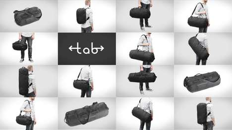Variably Sized Travel Bags - The TAB Expandable Bag Comes with Four Different Styles in One