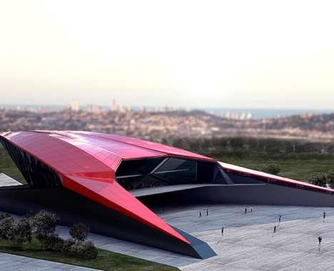 Futuristic Supercar Museum Buildings
