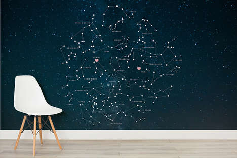 Personalized Constellation Murals - Murals Wallpaper's Romantic Wall Decor is Customized for Couples