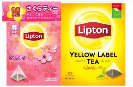 Sakura Blossom Tea Bags - In Japan, Lipton Now Sells Convenient Single-Use Sakura Tea Sachets