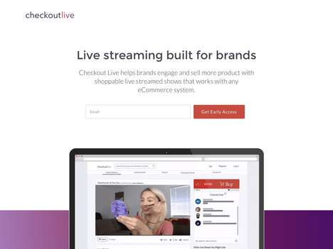 Shoppable Video Platforms - 'Checkout Live' Merges Live Stream Content with eCommerce