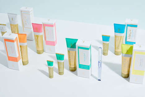 Art Deco Toothpaste Packaging - The LEBON Natural Toothpastes Have a Vibrant Retro Aesthetic