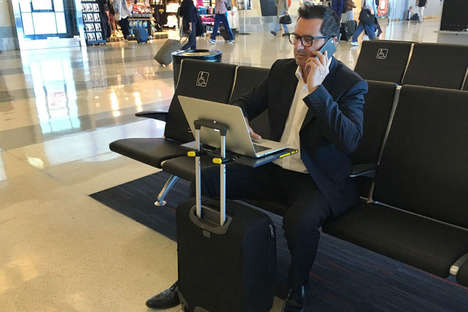 Suitcase Desk Attachments - The 'SMARTOO' Foldable Desk Transforms a Carry-On to a Desk