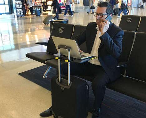 Suitcase Desk Attachments