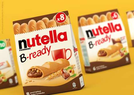 Chocolate-Filled Leavened Breads - 'B-Ready' Consists of Baguette-Like Bread that Contains Nutella