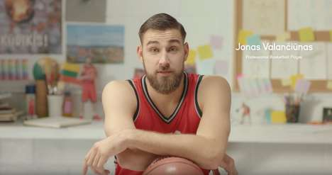 Miniature Basketballer Figurines - Jonas Valanciunas' Itty Bitty Ballers are a GoDaddy Promotion