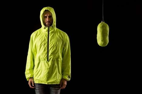 Custom Insulation Jackets - The Unchartered Supply Hideaway Packable Windbreak is Customizable