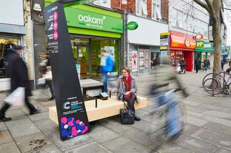 Contactless Donation Benches - These 'Smart Benches' Offer a Unique Way to Donate to Cancer Research
