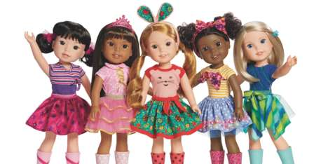 Rain Boot-Clad Dolls - American Girl's New 'WellieWishers' Dolls are Designed for Younger Kids