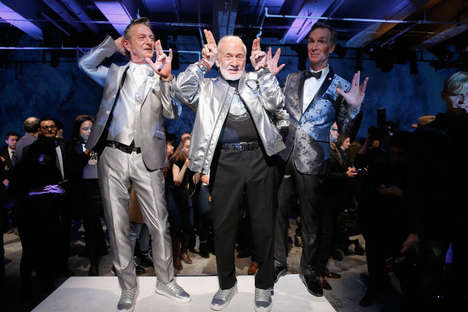 Space-Themed Fashion Shows - Nick Graham's Recent Menswear Show Featured Bill Nye and Buzz Aldrin