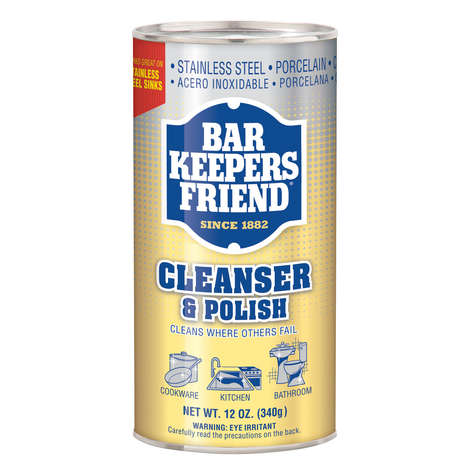 Powerful Multipurpose Cleansers - Bar Keepers Friend Cleanser & Polish Can Clean Metal and Porcelain