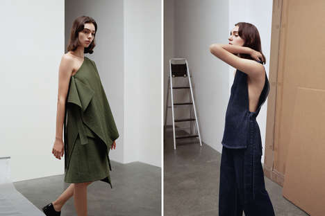 Monotone Scandinavian Fashion - The New COS Campaign Highlights Simplistic Statement Looks