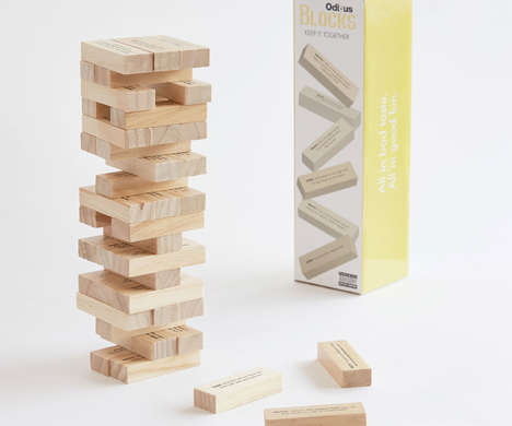 Mature Stacked Block Games - The Odious Blocks Adult Party Game Features Truth or Dare Questions