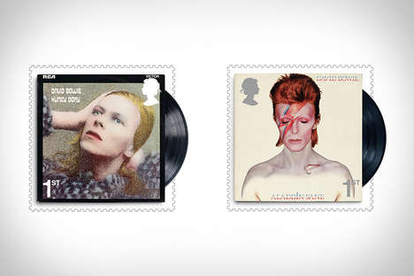 Honorary Musician Postage Stamps - The Limited-Edition David Bowie Special Stamps are Commemorative