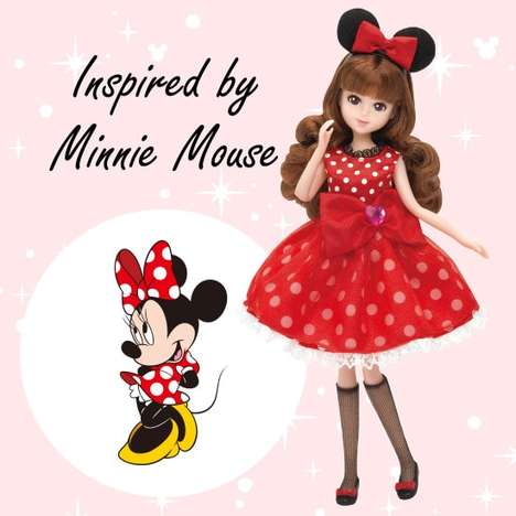Stylish Disney Character Dolls - Tokyo Disney's New Fashion Dolls are Inspired by Beloved Characters