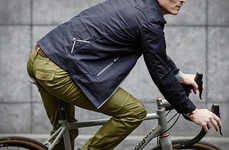 Stylish Waterproof Cycling Pants - The Vulpine Tailored Rain Trousers are Rainproof Yet Comfortable