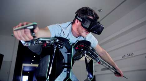 VR Flying Installations - The 'Hypersuit' Puts People in Position to Experience a VR Flight