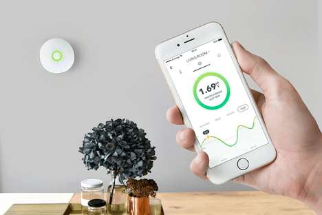 Connected Radon Detectors - The AirThings 'Wave' Radon Gas Detector Constantly Monitors a Space
