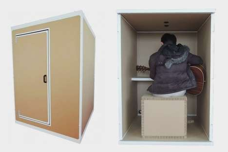 Home Studio Soundproof Booths - The 'Danbocchi' Creates a Soundproof Room for Recording and More