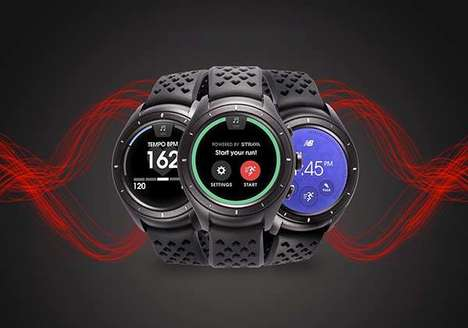 Athletic Jogger Wearables - The New Balance 'RunIQ' Fitness Tracker Smartwatch is Precise