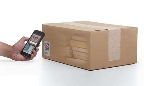 QR Code Box Labels - The Bluelounge 'Quick Peek' Smart Organizing Labels Ensure Packing Efficiency