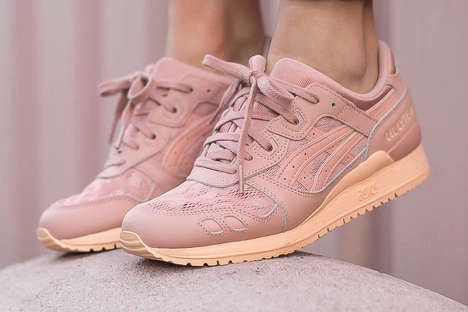 Monotone Peach Sneakers - These Feminine ASICS are a Take on the Popular GEL-Lyte III Model