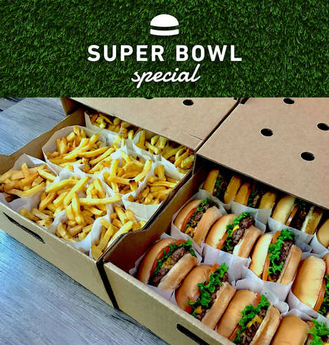 Big Game Burger Boxes - 'The Burger's Priest's' Super Bowl Special Can Feed a Whole Party