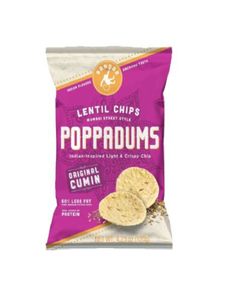 Indian-Inspired Lentil Chips - Bandar Foods' 'Poppadums' Introduce an Eastern Snack to the West
