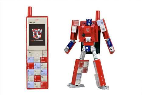 Transformative Phone Toys - These Nostalgic Phone-Shaped Toys Change into Transformer Characters
