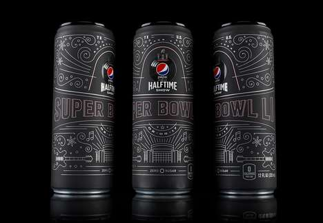Sports-Commemorating Soda Cans - Pepsico Offered Limited Edition Cans for This Year's Super Bowl