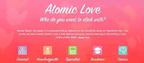 Algorithmic Dating Profile Services - 'Atomic Love' Gives AI Analysis of Dating Profiles