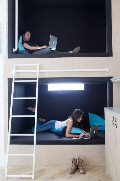 Resting Office Compartments - 'Dani Arps' Created This Airy Work Space for Eligible API