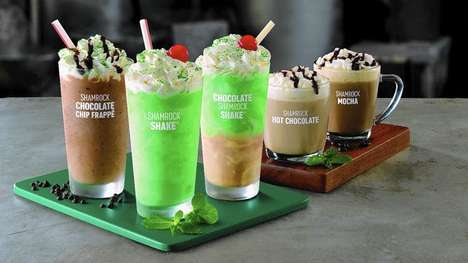 Novel Irish Holiday Milkshakes - McDonald's will Release New Shamrock Shake Flavors