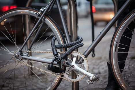 Textile Rope Bike Locks - The 'tex-lock' Rope Lock is Lightweight and Cut-Resistant