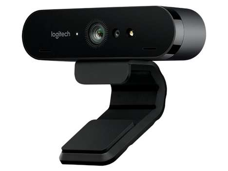 4K Conference Webcams - The Logitech BRIO 4K HDR Computer Webcam Offers Advanced Resolution