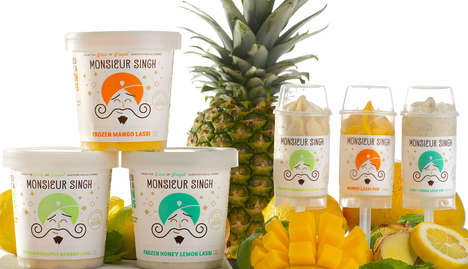 Frozen Lassi Desserts - Monsieur Singh Reimagines Fruit Lassi Drinks in a Frozen Format
