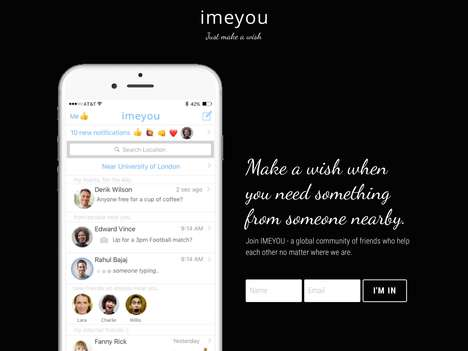 Social Sharing Economy Apps - The 'imeyou' Social Community Platform Connects Nearby Users