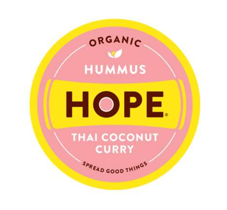Curried Hummus Dips - Hope Hummus' 'Thai Coconut Curry Hummus' Features an Unusual Twist