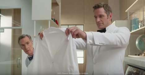 Scientific Laundry Commercials - This Persil Laundry Super Bowl Ad Stars Bill Nye the Science Guy