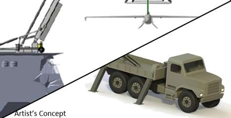 Drone-Docking Devices - DARPA's Project SideArm is a Portable Military Drone Launch and Capture Dock