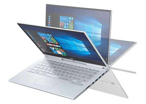 Dual-Purpose Laptop Tablets - The NEC LaVie Hybrid Zero Tablet Notebooks Offer a Lightweight Design