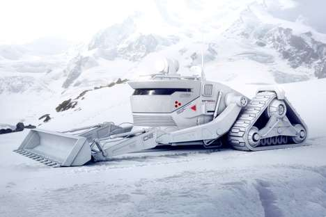 Terrain-Conquering Snow Vehicles - This Conceptual Mountain Vehicle Drives Through Snow with Ease