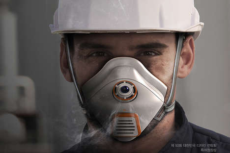 Water Capsule Fire Masks - This Conceptual Fire Mask is Designed for Construction Workers